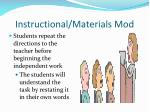instructional materials mod
