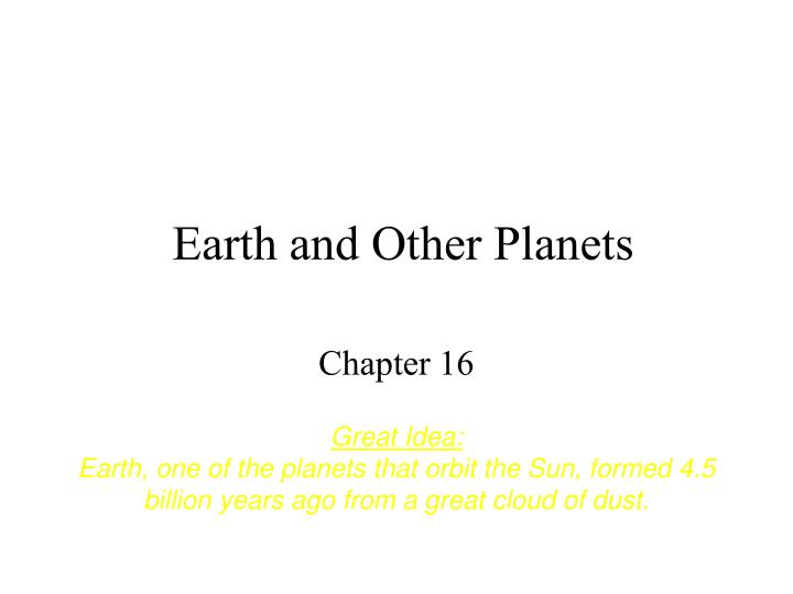earth and other planets n.