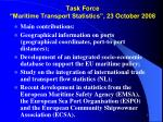 task force maritime transport statistics 23 october 20087