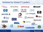 validated by global it leaders