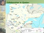 collaboration in quebec