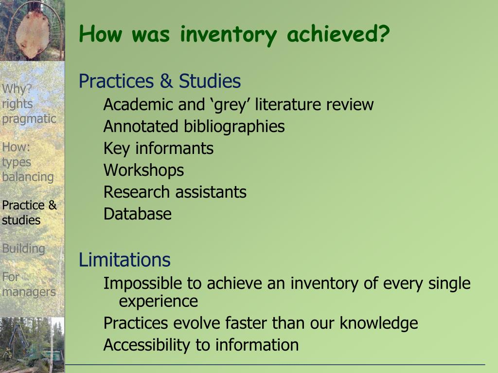 How was inventory achieved?