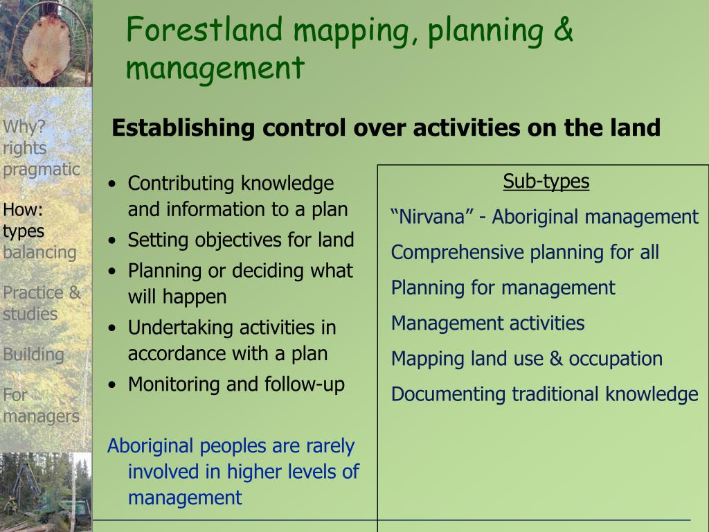 Forestland mapping, planning & management