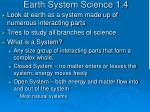 earth system science 1 4