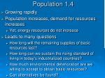 population 1 4