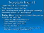 topographic maps 1 3