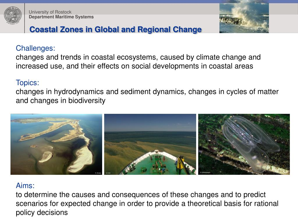 Coastal Zones in Global and Regional Change