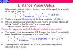 distance vision optics