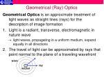 geometrical ray optics