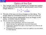 optics of the eye