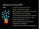 efficiency of the epp