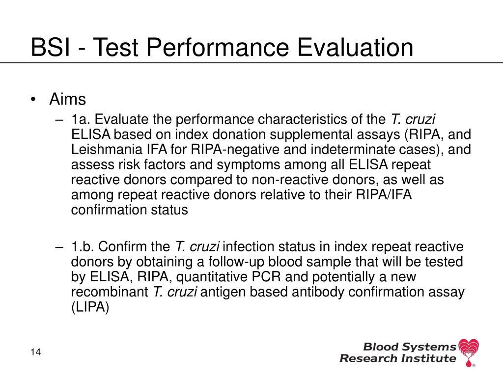 BSI - Test Performance Evaluation