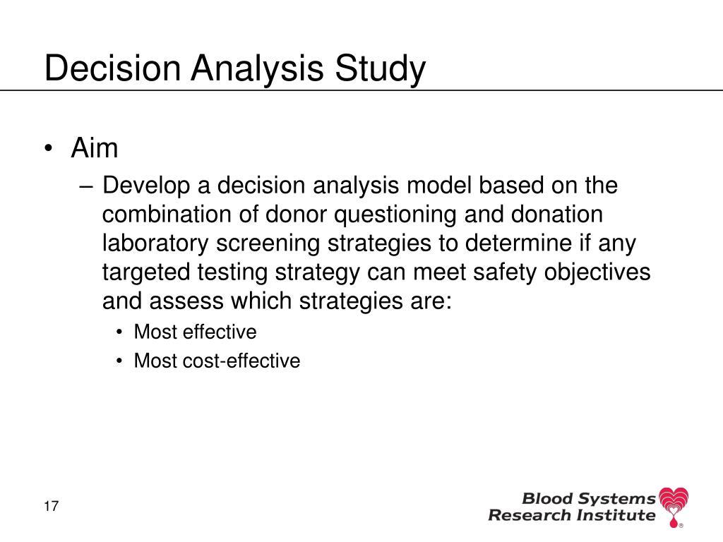 Decision Analysis Study