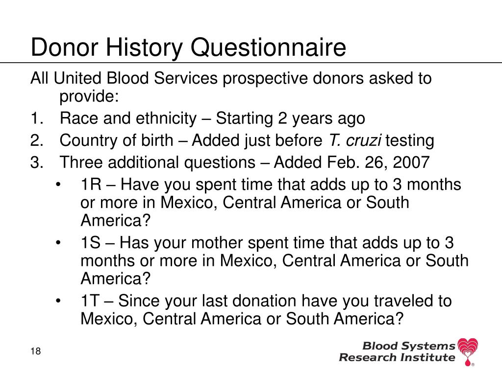 Donor History Questionnaire