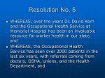 resolution no 5