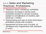 2 1 1 sales and marketing practices prohibitions