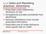 2 1 2 sales and marketing practices advertising