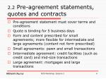 2 2 pre agreement statements quotes and contracts