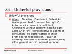 2 5 1 unlawful provisions
