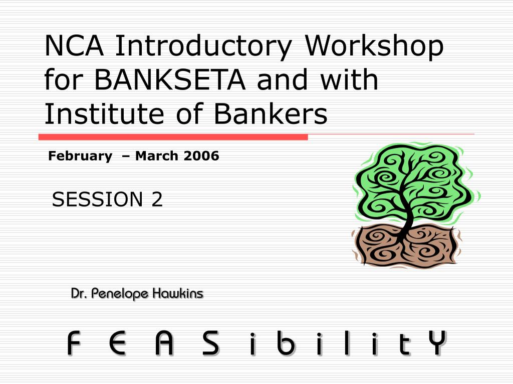 nca introductory workshop for bankseta and with institute of bankers l.