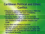 caribbean political and ethnic conflict