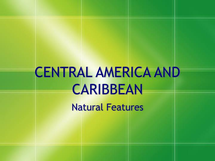 central america and caribbean n.