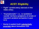 acst eligibility