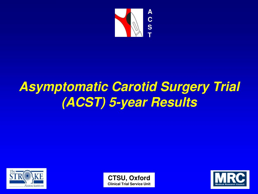 asymptomatic carotid surgery trial acst 5 year results l.