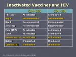 inactivated vaccines and hiv