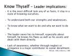 know thyself leader implications