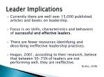 leader implications