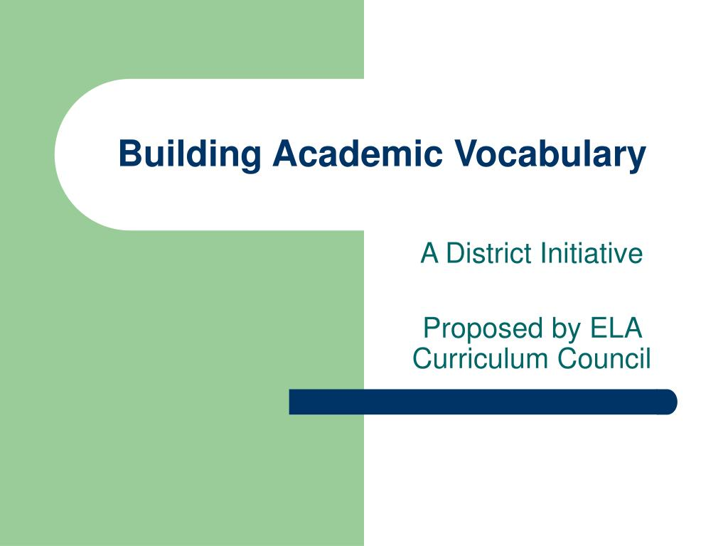 building academic vocabulary l.