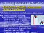 distributing the sun s heat wind
