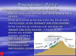 precipitation part ii