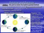solstice and equinox