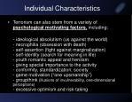 individual characteristics1