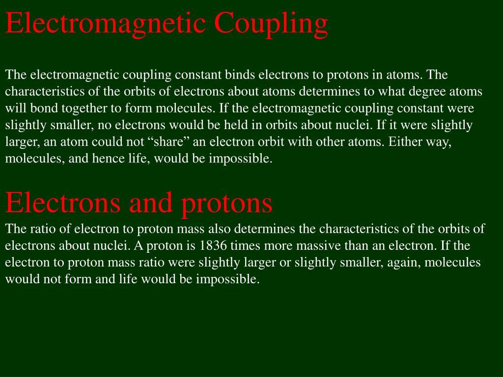 Electromagnetic Coupling
