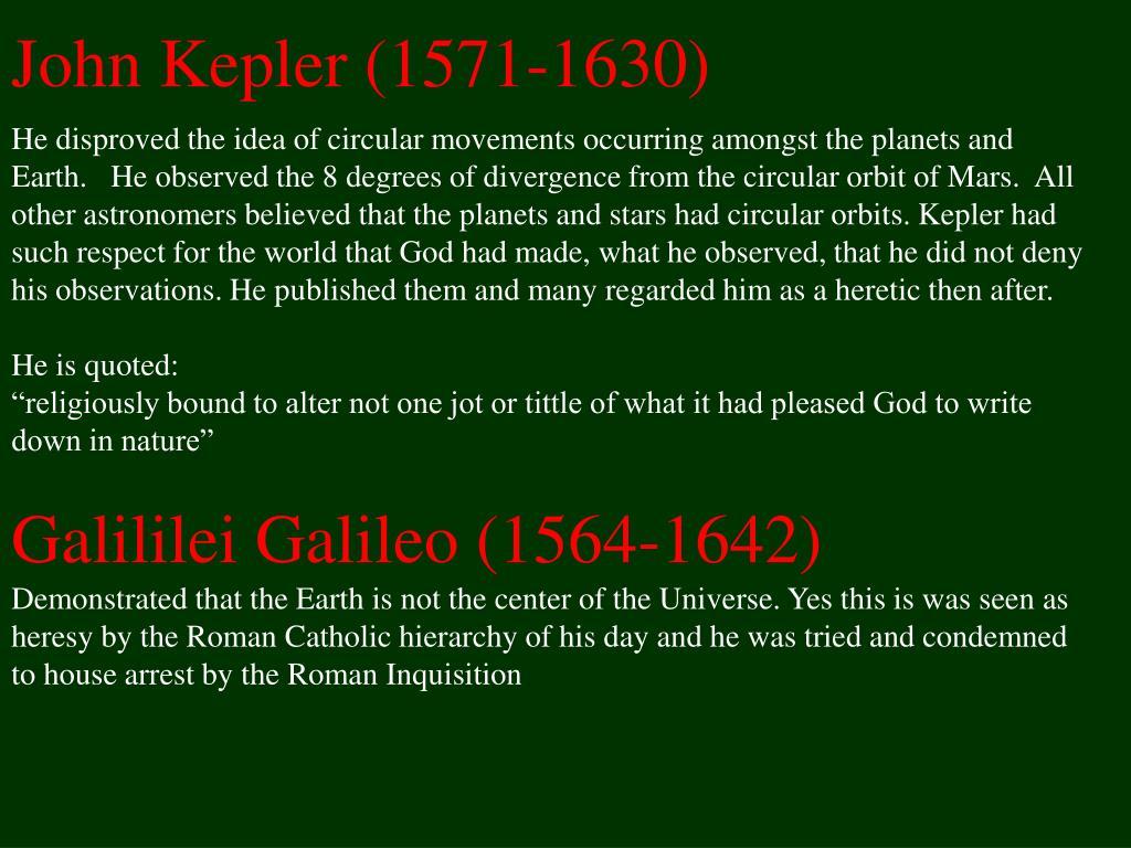 John Kepler (1571-1630)