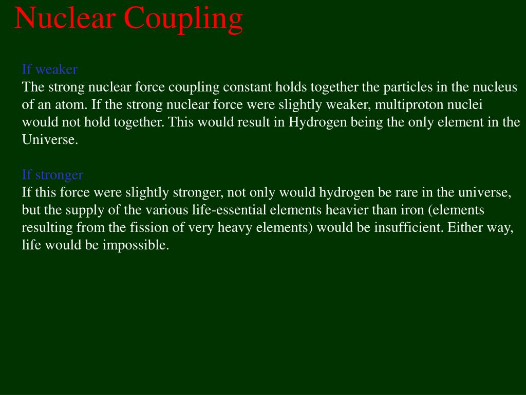 Nuclear Coupling