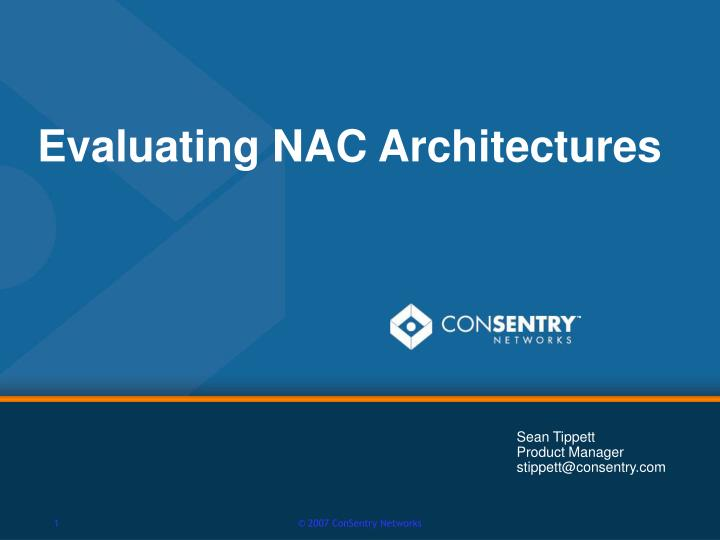 evaluating nac architectures n.