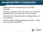 navigating nac is complicated