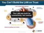 you can t build the lan on trust