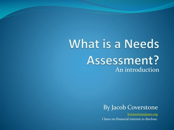 what is a needs assessment n.