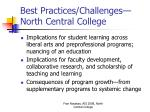 best practices challenges north central college