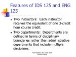 features of ids 125 and eng 125