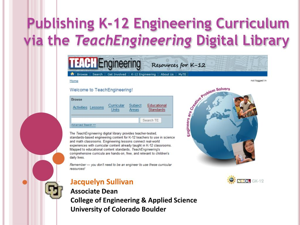publishing k 12 engineering curriculum via the teachengineering digital library l.