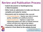 review and publication process