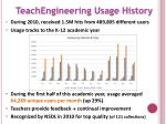 teachengineering usage history