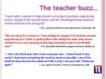 the teacher buzz
