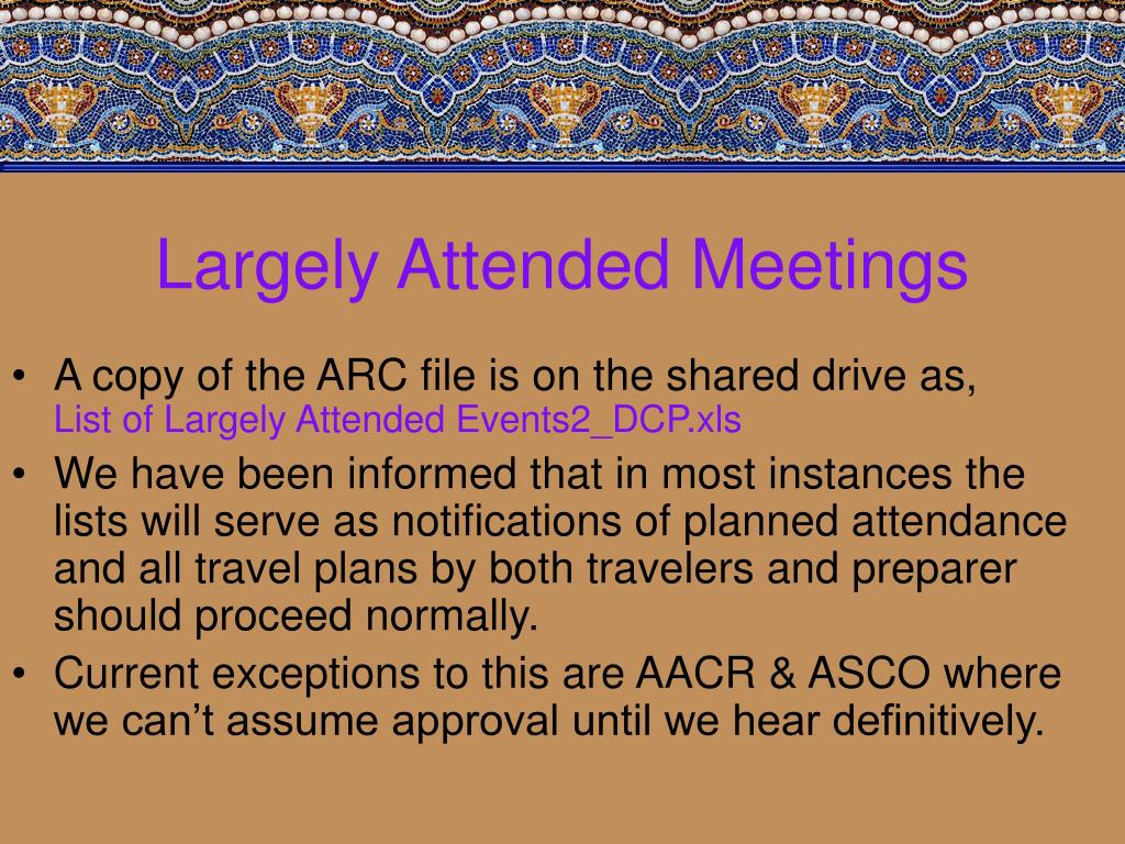 Largely Attended Meetings